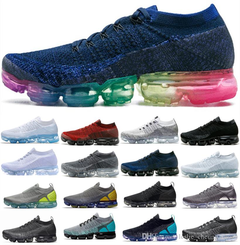2019 Knit 2.0 3.0 1.0 Fly Running Shoes almofada Homens Mulheres Zebra Triplo Black Heritage Cactus Dusty Vast instrutor Sneakers
