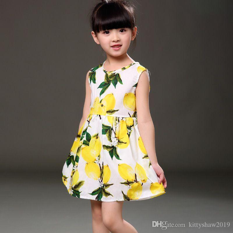 الأطفال عارضة فساتين الأطفال أطفال فتاة أكمام زهرة طباعة القطن والكتان اللباس الأزهار الطفل الربيع الصيف