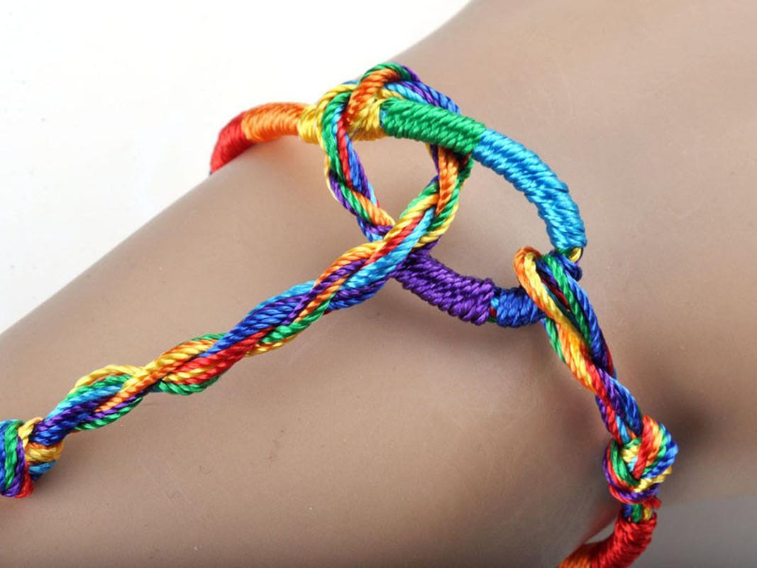 Lujo al por mayor de la pulsera de las muchachas de la joyería colorida púrpura del infinito pulsera hecha a mano barato trenzar la cuerda pulseras de la amistad trenzadas Strand