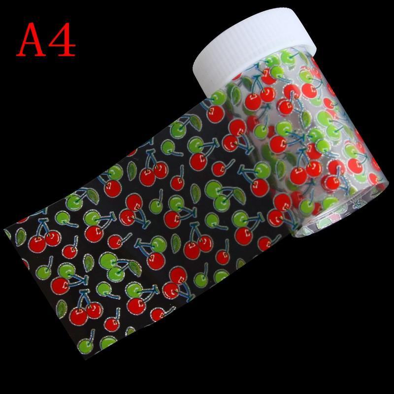 100 * 4 centímetros 1 Garrafa manicure DIY Detalhes no Fruite coração Transferência Nail Art Foils 3D Stickers Decals Mulheres Maquiagem Ferramentas