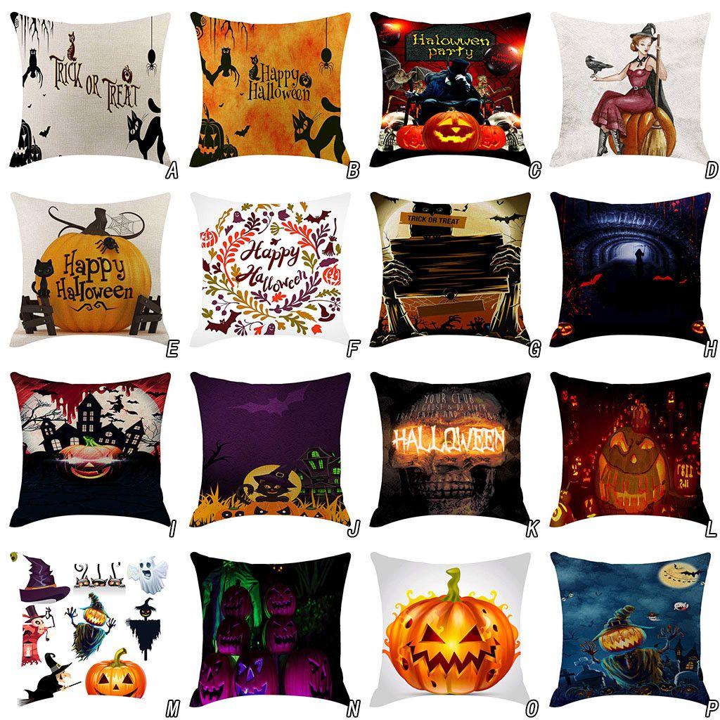 Halloween Pumpkin Pillow Cover Pillowcases Decorative Sofa Cushion Cover christmas cushion personalizado coussin decoratif