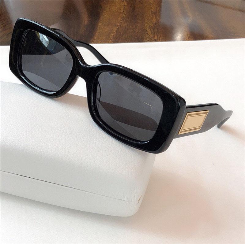 Yeni moda tasarımcısı dava ile toptan gözlük UV400 4377 basit kare kare popüler cömert açık hava yaz koruması güneş gözlüğü