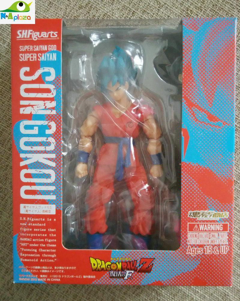 Figuarts Dragonball Super Broly Super Saiyan God Son Goku bleu figurine S.H