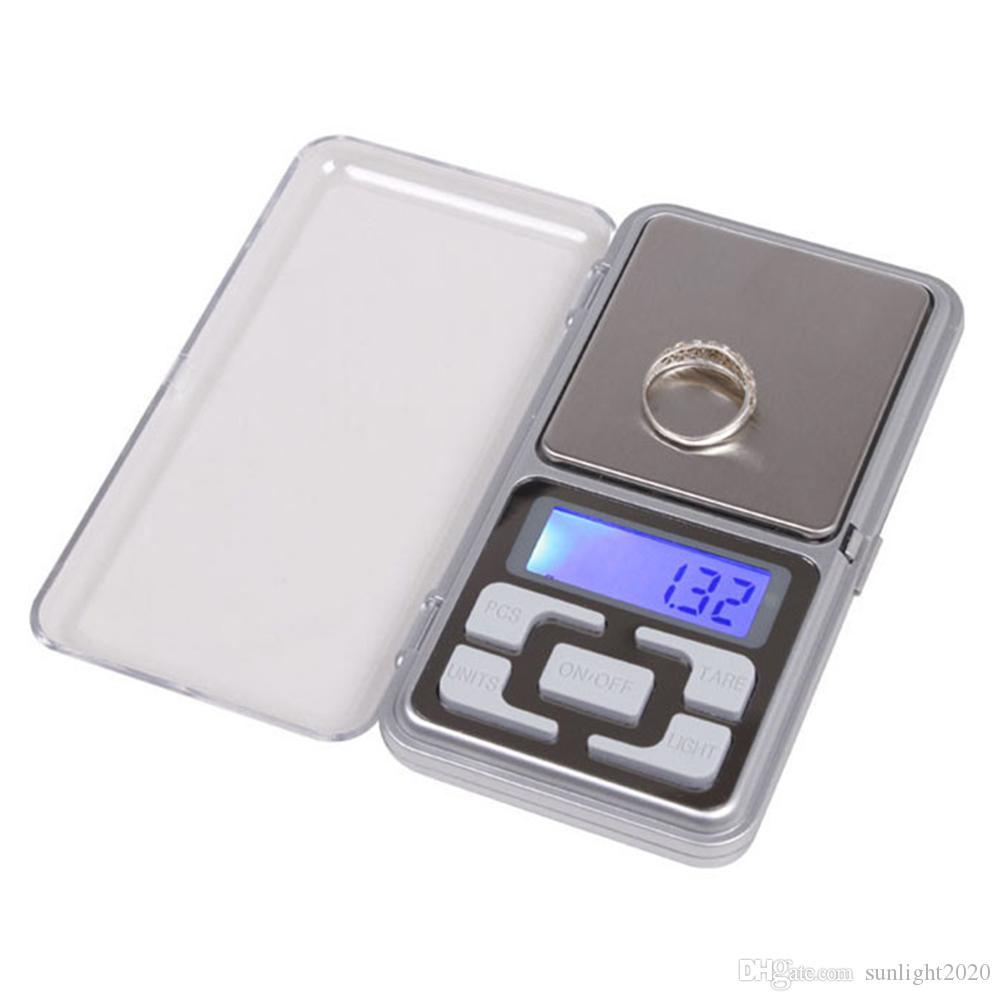 الالكترونية مقياس الجيب الرقمية 0.01g الدقة مجوهرات الموازين مقياس الإضاءة الخلفية للKitchen100 / 200/300 / 500G
