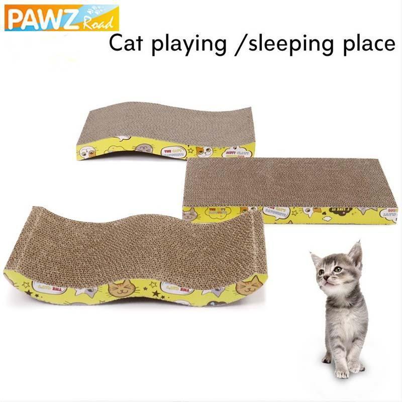 Cat Scratch Board Gerade S W-Form-Big-Size-Doppelseitige Durable Haustier Scratcher Auflage-Bett-Matte mit Catnip Spielzeug Klauenpflege Katze-Spielzeug