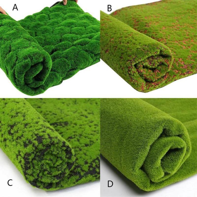 1M Pascua Navidad de la paja Estera verde del césped artificial de alfombras de césped falso jardín de musgo Inicio piso de bricolaje decoración de la boda de la hierba