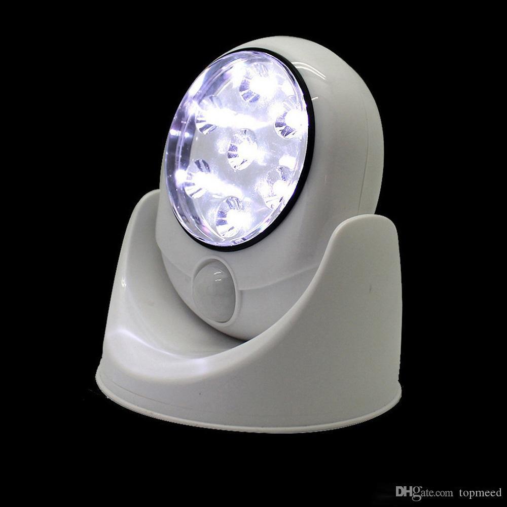 Sıcak 7 LED Kablosuz PIR Otomatik Hareket Sensörü Işık LED Hareket Işık Akıllı Taşınabilir Kızılötesi Indüksiyon Lamba LED Sensörü Gece Işıkları