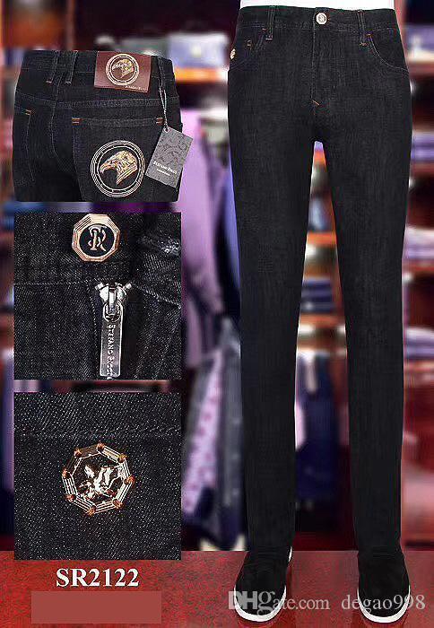 Stef * keine ri * ci Jeans HAKA 2020 Herbst / Winter neue bequeme Stickerei Lederstärke