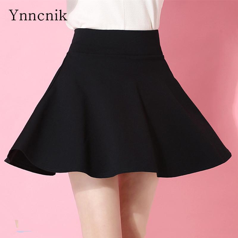 Ynnnik mujer pantalones cortos faldas colores del caramelo mini faldas plisadas cintura alta más tamaño falda con pantalones cortos universales desgaste casual s1066 y19050905