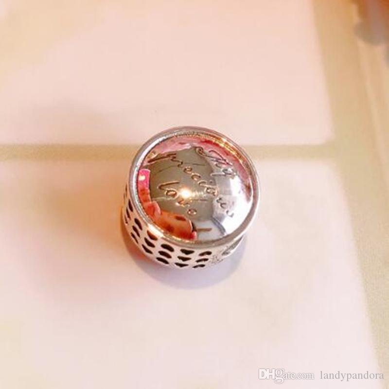 2019 Новый DIY Сыпучие шарика стерлингового серебра 925 миссис Джамбо Charm Подходит для европейского Pandora ювелирных изделий браслета ожерелья подвеска