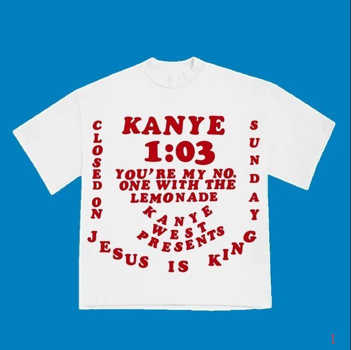 T-shirt Designer mulheres 2020 New Hip Hop Streetwear Popular Jesus é rei Fresco Kanye T-shirt Black Red Cor S M L XL GL2004291