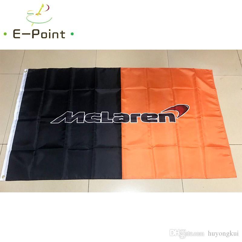 McLaren Racing Flag 3 * 5 피트 (90cm * 150cm) 폴리 에스테르 깃발 배너 장식 비행 집 정원 플래그 축제 선물