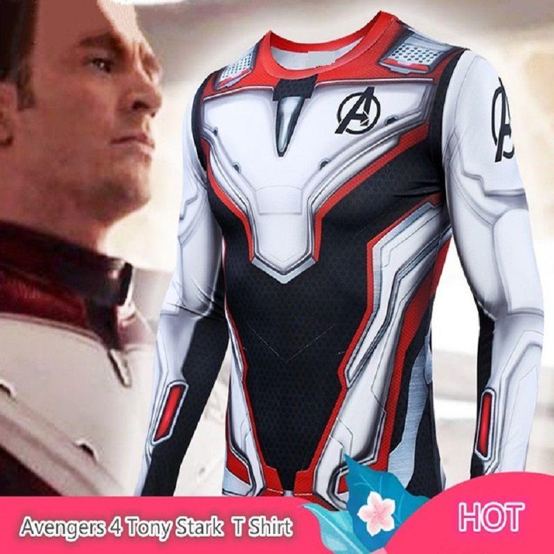 Chemise à manches longues Marvel Tights pour hommes Le t-shirt Flash 3D Fitness MMA Rashguard