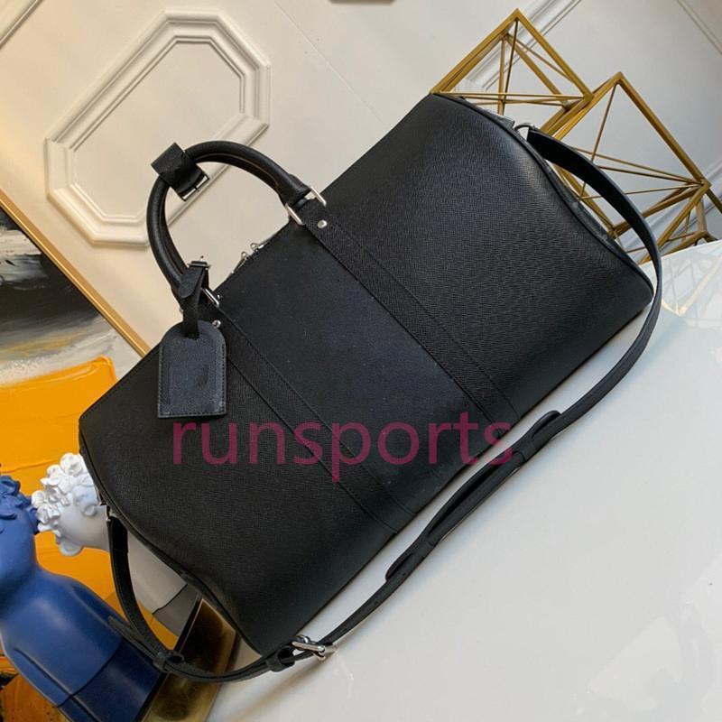 4 colores 2020 Keepall Luis bolsa de lona de lujo del diseñador 45 50 hombres bolso deporte equipaje de cuero genuino L flor bags4597 viajes patrón #
