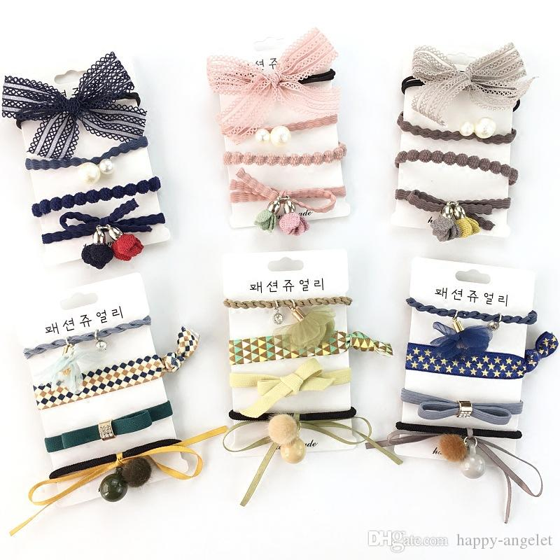 Bands Woman Hair Accessories Ponytail Holder Baby Headwear Elastic Hair Rope
