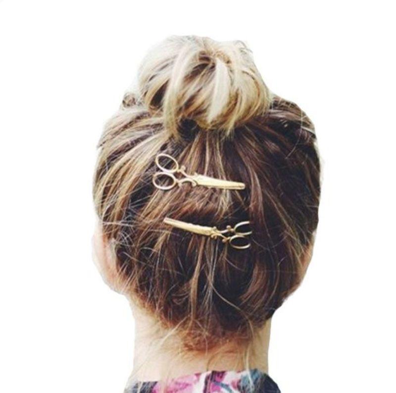 1PC Hair Clip Hot Sale Women Headwear Casual Scissors Pattern New Fashion Hair Clip Barrettes Apparel Accessories Headpiece