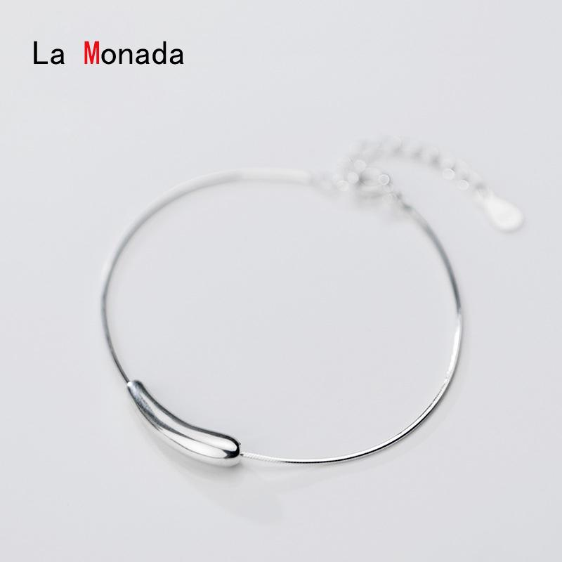 La Monada prata esterlina 925 pulseiras para Mulheres Serpente Cadeia Pulseira de Prata 925 Femme das mulheres Acessórios Mulheres