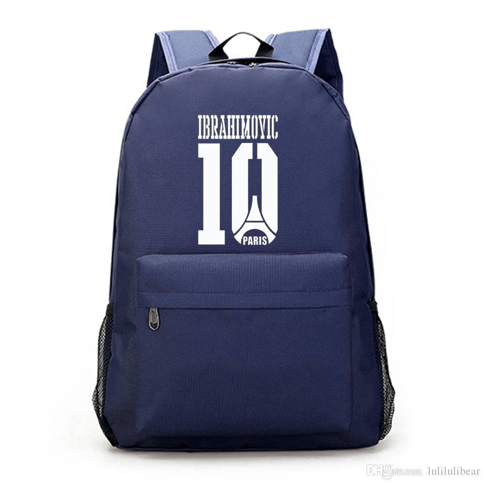 الفتيات قماش ظهره حقيبة الظهر للكرة كمبيوتر محمول المراهقين مدرسة ابراهيموفيتش mochila كبير الأولاد حقيبة القدم encolar ciwjb