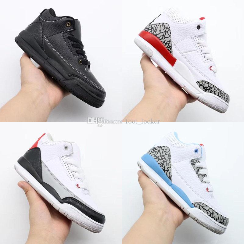 جديد اللون jumpman J3 s الأطفال أحذية كرة السلة بنين بنات 13 3 أحذية رياضية أطفال رياضية رياضية كرة السلة أحذية الأطفال الصغار 28-35