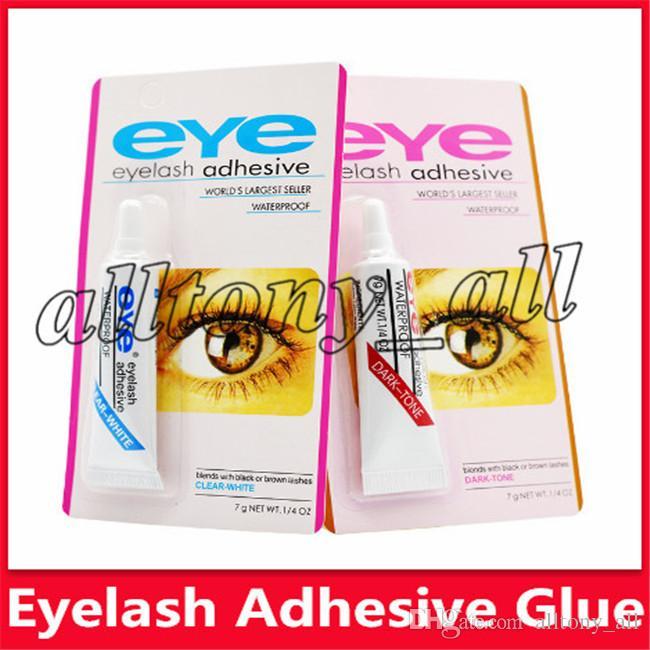 Colle pratique pour les cils clair-blanc / noir-foncé Imperméable Faux Cils Maquillage Adhésif Maquillage Cils Colle Maquillage