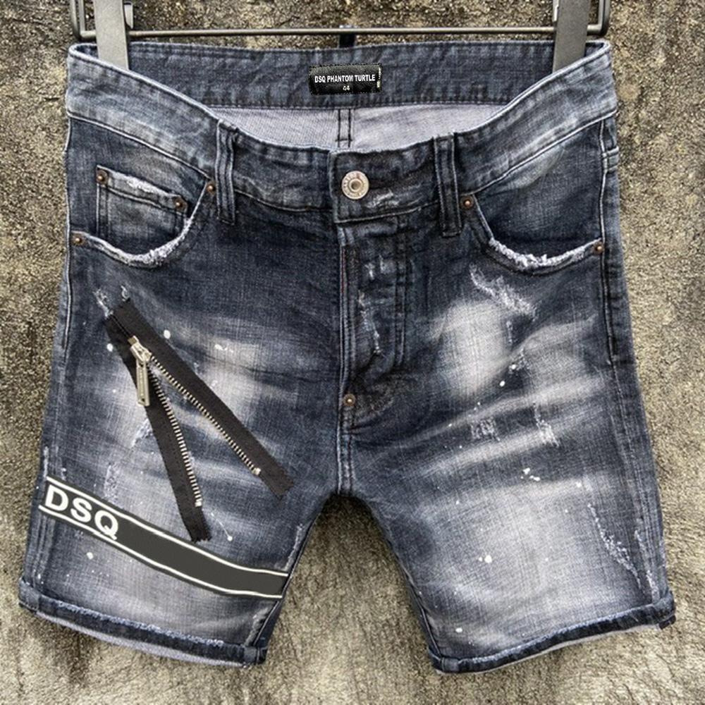 DSQ JEANS HOMNE JEANS MENS DE PRESTIGE DES DESIGNERJANES SKINNY RIPPÉE COOL GUY GUY Denim Fashion Marque Fit Jeans Hommes Pantalon lavé 5186