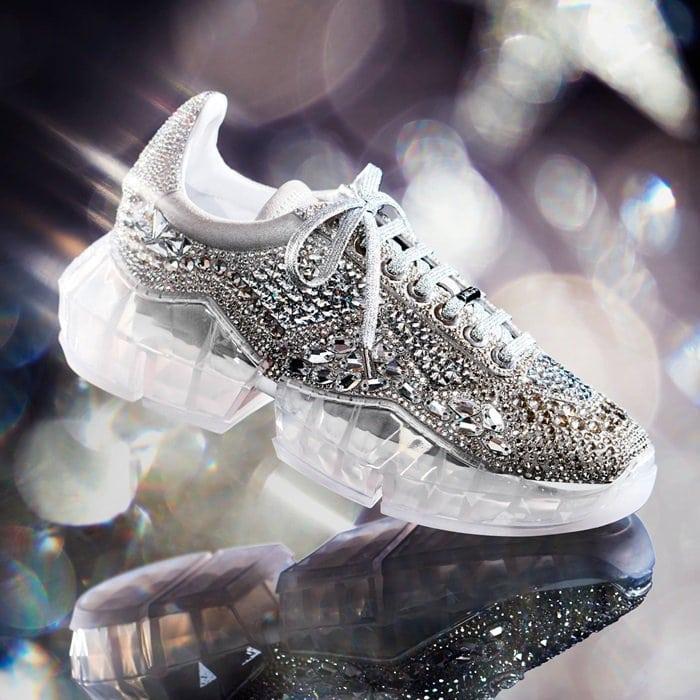 Lüks Elmas Sneakers Elmas Ayakkabı Kadınlar Lüks Günlük Ayakkabılar Lüks Bayan Ayakkabıları Gerçek Deri