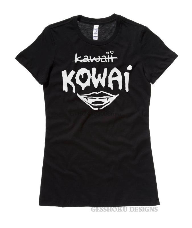 Kowai Nicht Kawaii T-Shirt Pastell goth ästhetische Lippen Vampir creepy yami