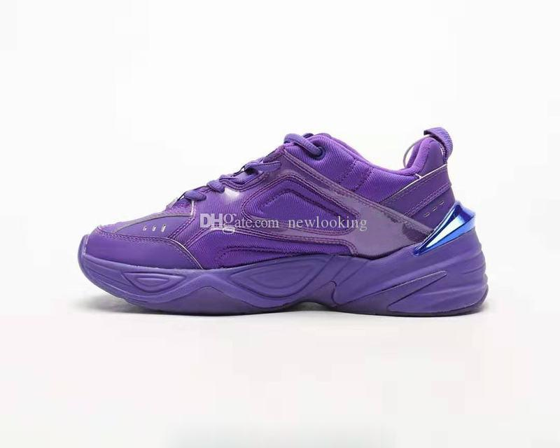 Free Shipping M2K Tekno Gel Hyper Grape Running Shoes Men Women Purple Orange Sports Shoes