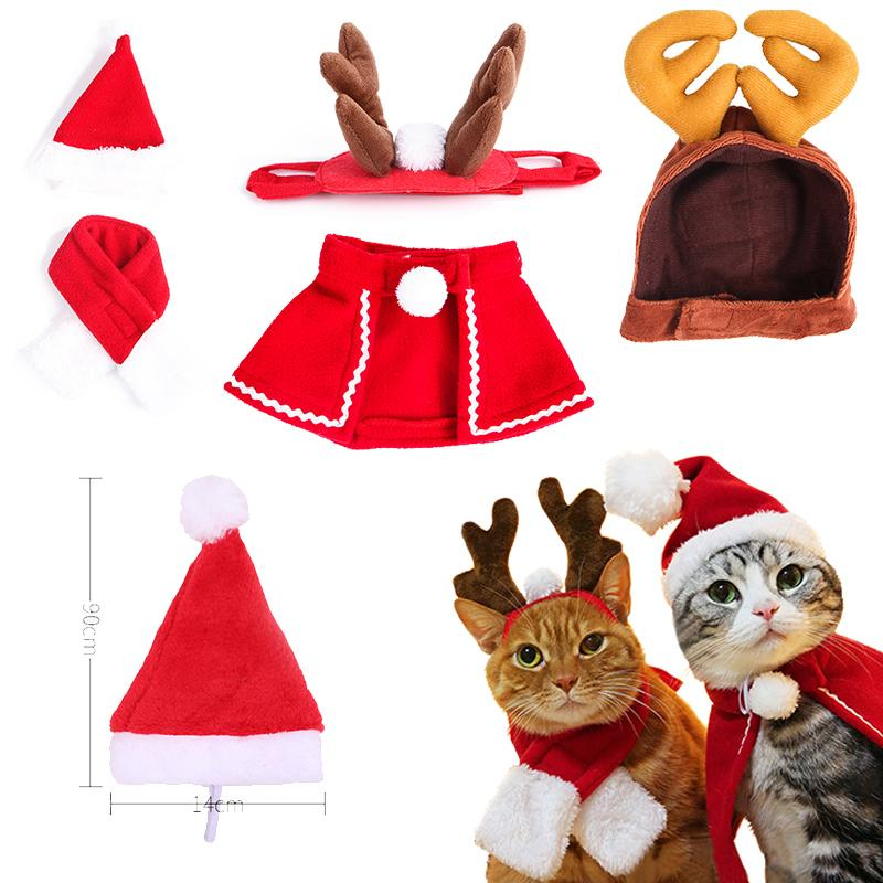 Pet Cat Christmas Dog Hat Dog Accessories For Puppy NEW YEAR Pet Elk Antler Shape Headwear Puppy Cat Hats Christmas Supplies