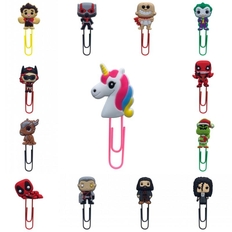 1pcs Bookmarks for Kids Cartoon Mini Figures Book Mark Paper Clips for School Teacher Office Supply Party Gift