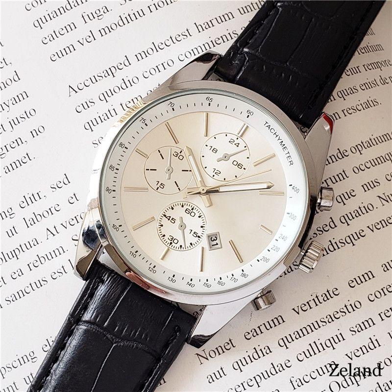 الرجال الساعات الفاخرة حركة كوارتز ساعة هوغو لحزام جلد الرجال مدرب الساعات عالية الجودة مصمم للماء على مدار الساعة عارضة MONTRE دي لوكس