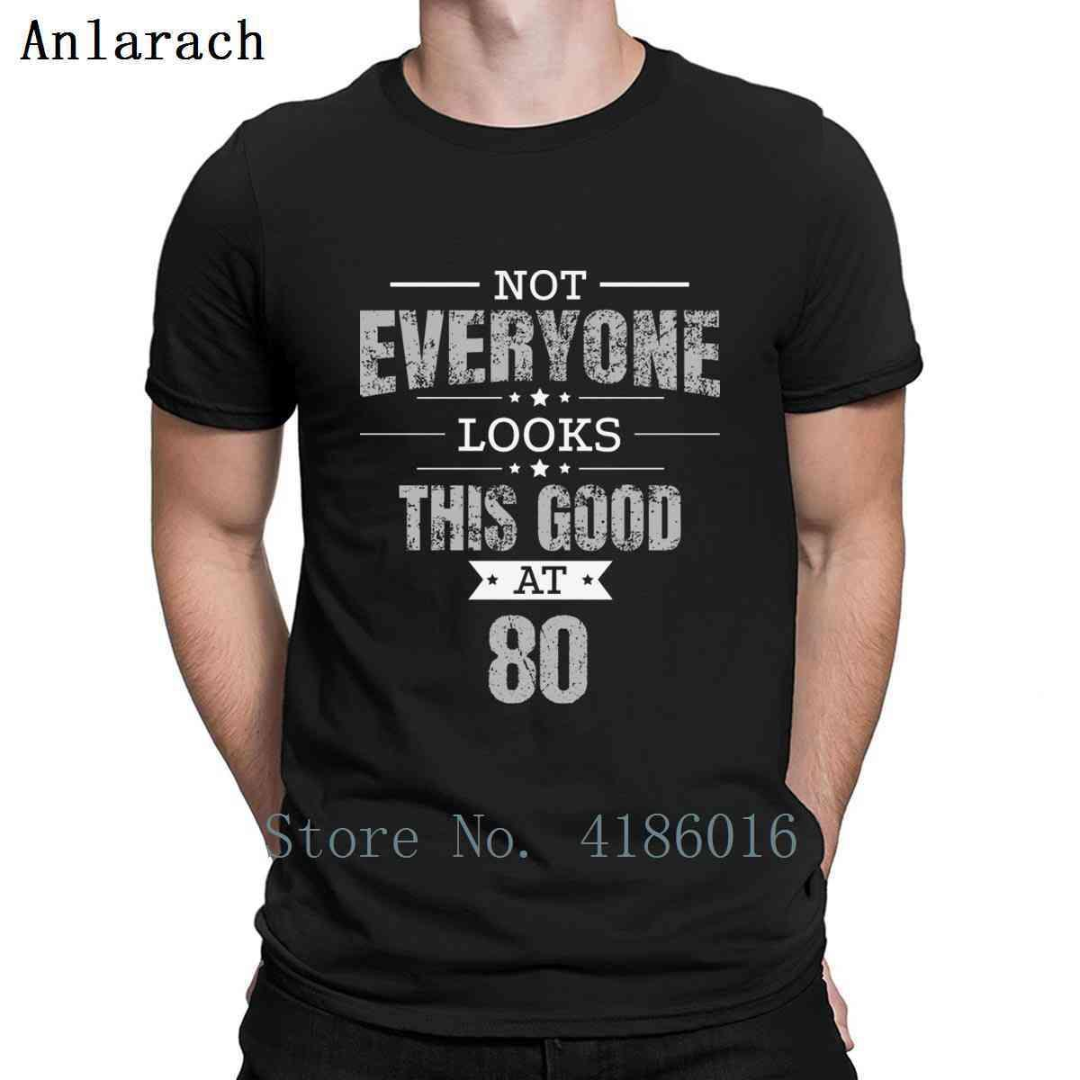80. Doğum Günü Hediye Retro Seksen 80 yaşında Tişörtlü Rahat Bahar Normal Homme oluştur S-5XL İlginç Pamuk Gömlek görünüyor