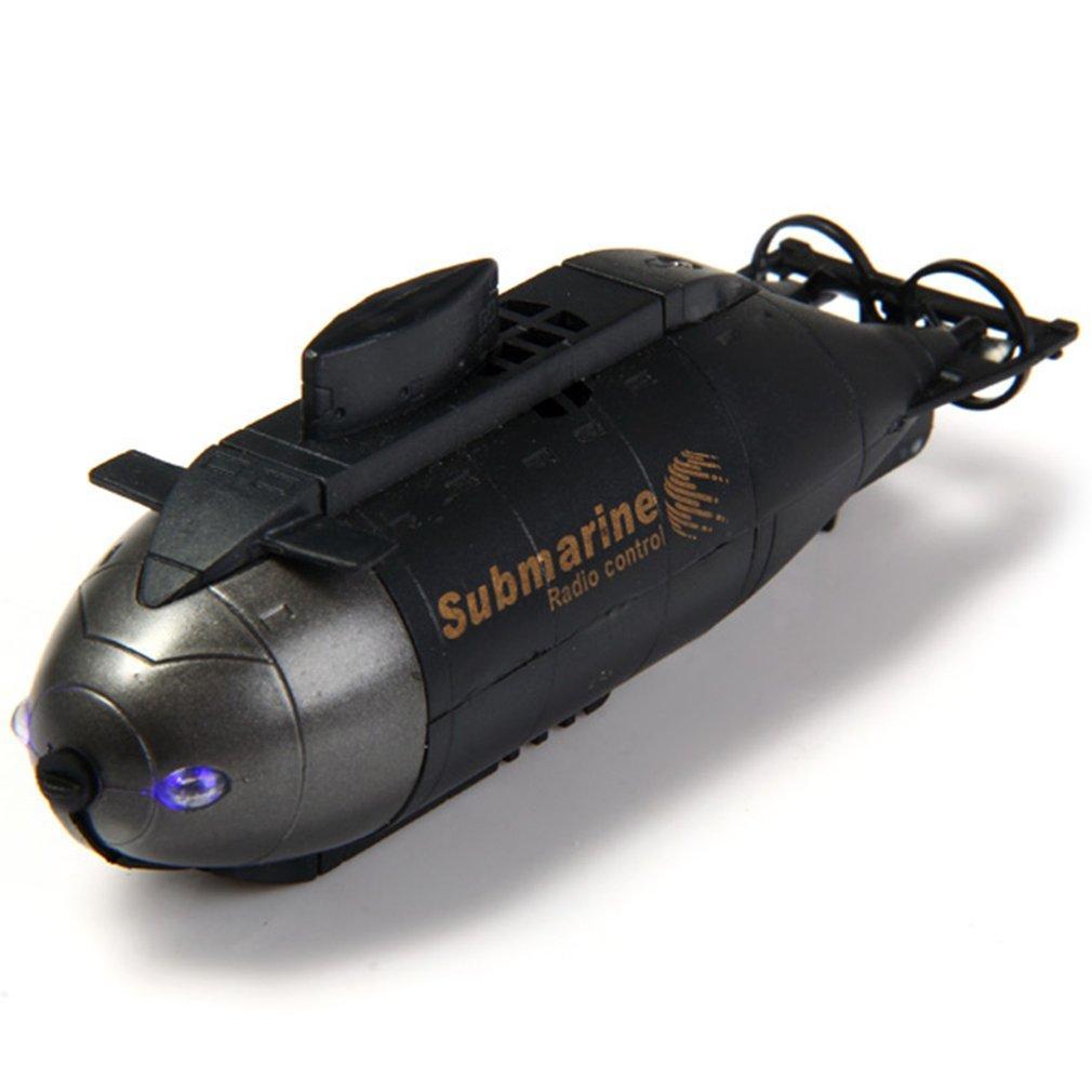 راديو الكهربائية البسيطة RC الغواصة البلاستيك قارب الجمعية توربيدو مع LED ضوء 5 ألوان للماء هدايا اطفال لعبة اكتشف البحر