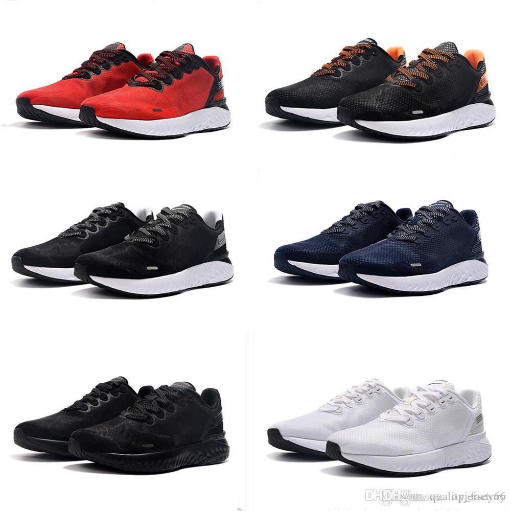 2019 Leyenda Reaccionar 3 Negro Blanco zapatillas de deporte de los hombres Zapatos para hombre del diseñador de moda de los zapatos corrientes de Breathe reacciona 3s