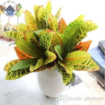 1 벌집 인공 식물 다채로운 잎 배열 결혼식