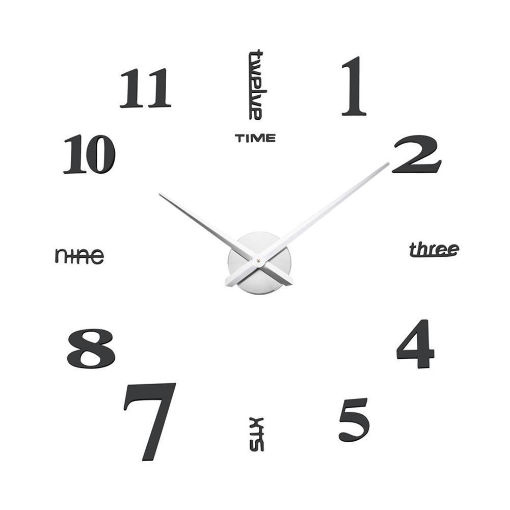 Parede de acrílico DIY relógio Europeia Adesivos Relógio decorativa Sala Innovative parede Para Casa Decor