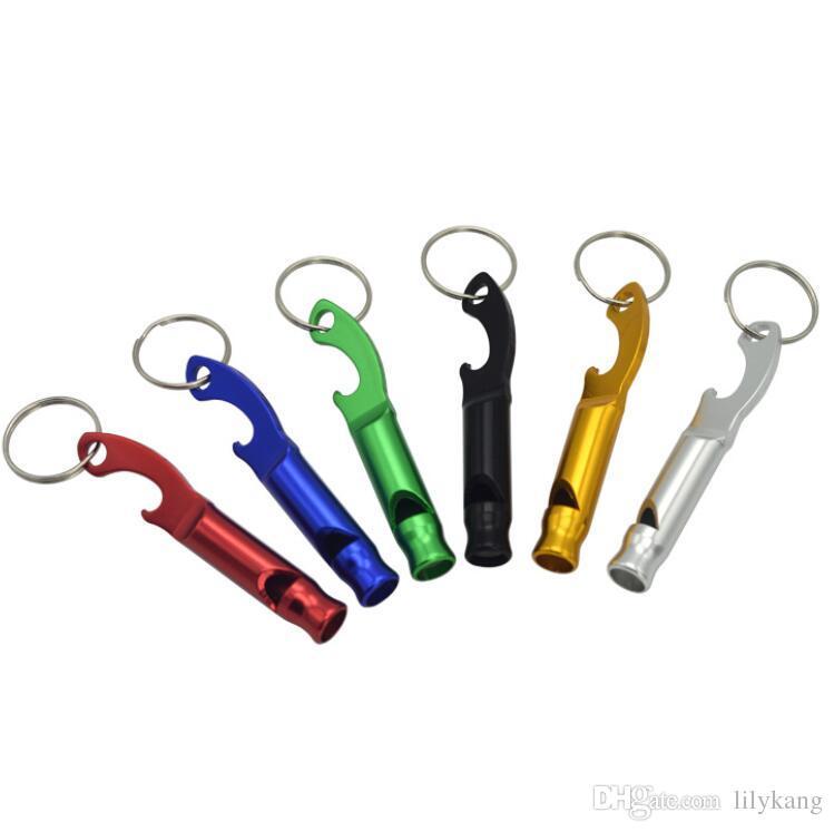 Multifuncional de metal Whistle Keychain alumínio Gadgets liga Emergency Survival apito ferramenta para Camping Caminhadas Formação apito chaveiro