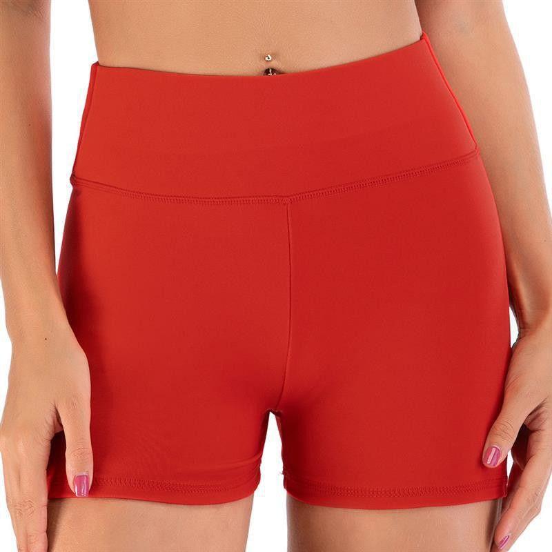 Yaz Kadın Spor Boş Egzersiz Fitnes Yoga Şort Bayanlar Seksi Katı Renk Yüksek Bel Spor Sıkı Kalça Shorts Koşu