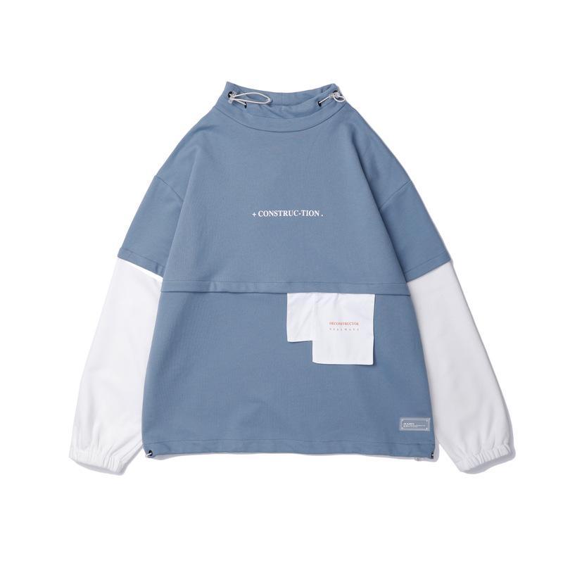 Sudaderas con capucha para hombres Sudadera con capucha japonesa Harajuku Streetwear Vintage Patchwork Hip Hop Sudaderas con capucha de algodón de gran tamaño Sudadera con capucha para hombre