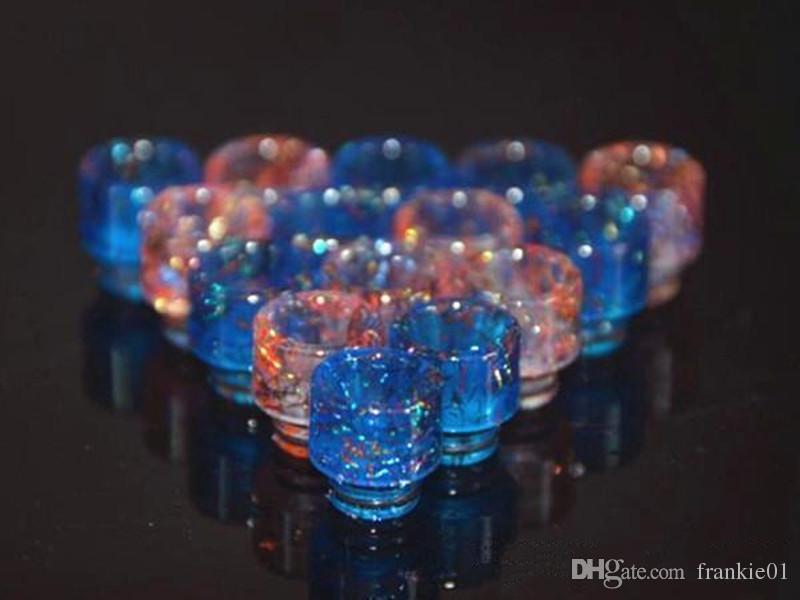 2019 vape diamante shinny drip tip 510 Resina Drip Tip Colorido E Cig Dicas Belo Design vape 510 bocal