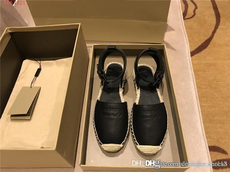 Женские сандалии, Новый пеньки тканый рыбак обувь классический и Баотоу рыбак сандалии, плоские сандалии полный пакет Размер 35-39cm