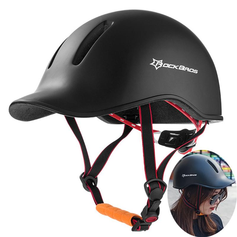 Commercio all'ingrosso di ciclismo su strada Casco EPS + PC integralmente modellata 57-62cm Tempo libero donne degli uomini di moda regolabile Scooter elettrico casco della bici
