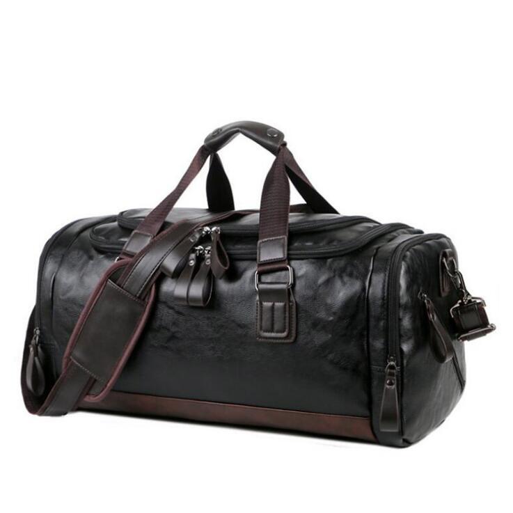 Pu Leather Gym Bag Large Training Sport Men Women Travel Yoga Handbag Fitness
