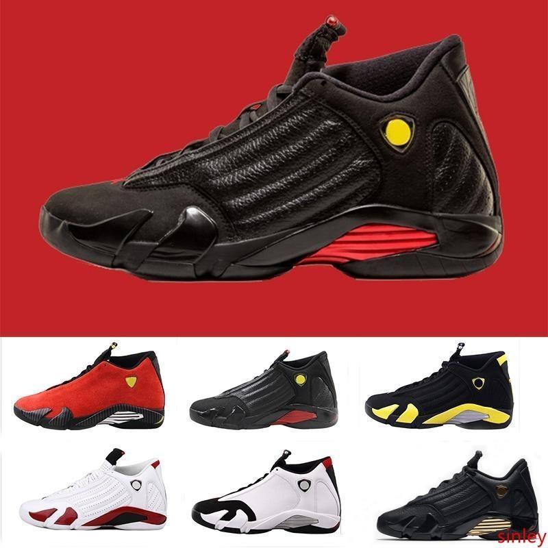 Top 14 Vente 14s Toe Noir Candy Cane Doernbecher Fusion Varsity Red Suede Hommes Chaussures de basket Last Shot de Thunder DMP Indiglo Sneakers