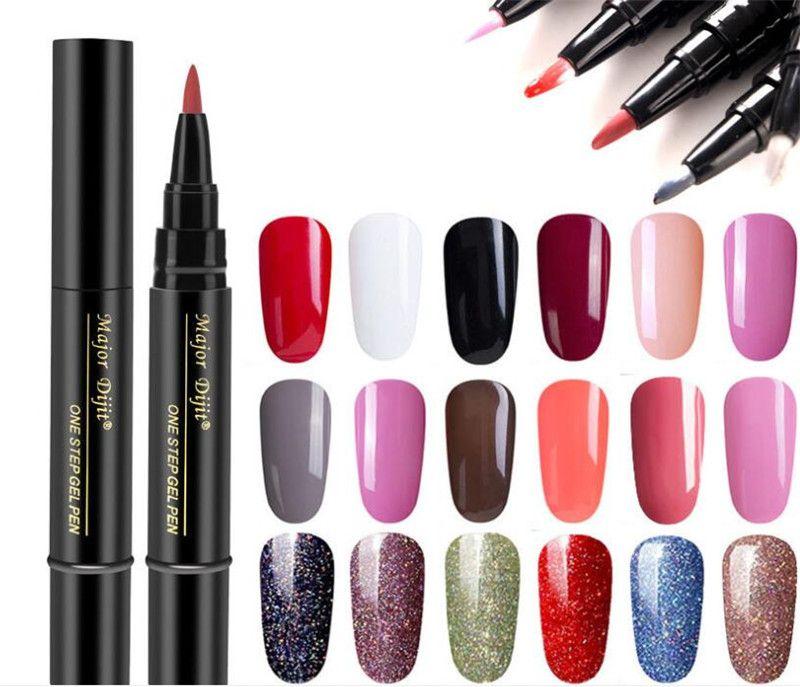 Новые поступления Гель-лак для ногтей Pen Glitter One Step Гель-лак для ногтей Гибридный 24 цвета Легкий в использовании УФ-гель-лак.