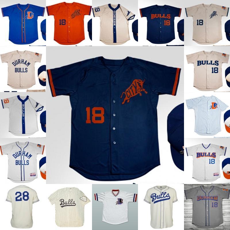 Camisa de jersey de Durham Bulls Jerseys de béisbol personalizados Cualquier nombre y número doble cosido