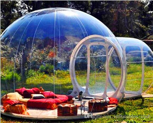 Kostenloser Versand Freies Blower Aufblasbare Blase Zelt zum Verkauf 3M Dia Blase Hotel For Menschen Hot Transparent Iglu-Zelt Förderung!