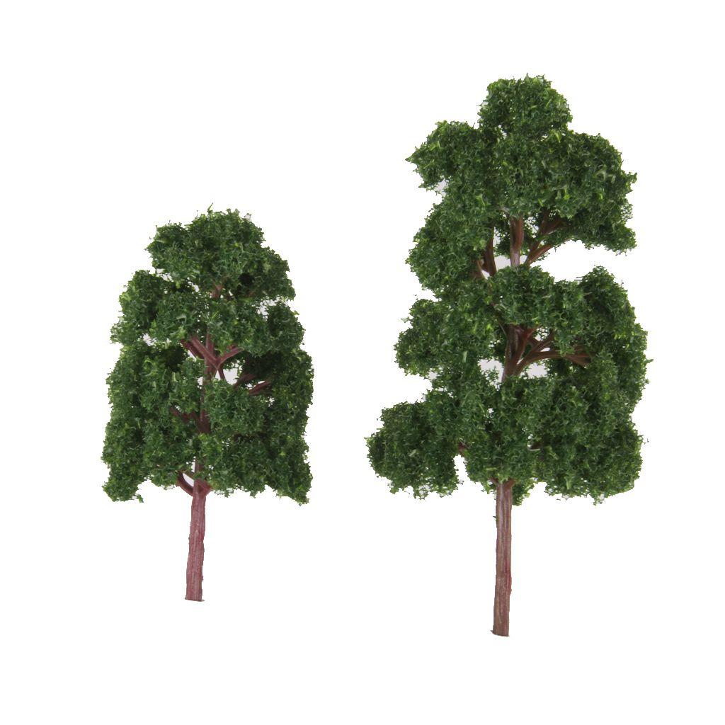 20pcs Mimarlık Manzara Modeli Ağaçları Tren Demiryolu Peyzaj HO N Ölçeği