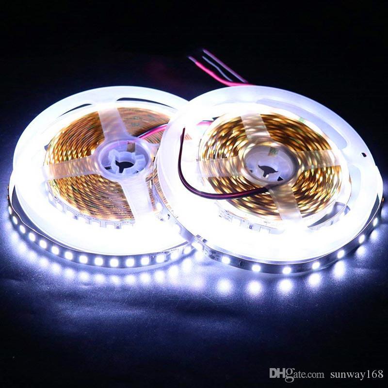 La nueva llegada 4040 SMD LED de luz de la lámpara 120LED / M 60LED / M ligero flexible de la cinta de doble PCB Led tiras de cinta Tape110V 220V
