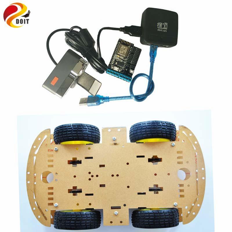 مراقب الفيديو 4WD ArduinoSmart عدة السيارة بواسطة كاميرا Openwrt راوتر تطبيق الهاتف دائرة الرقابة الداخلية الروبوت تحكم لاسلكية لعبة فيديو